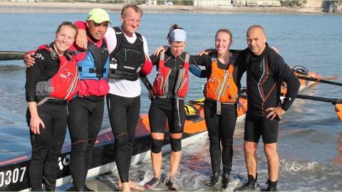 Equipe mixte avec Claire Denis, Apéhau Tchin Piou, Pascal Dourlen, Claire le Bolzer, Céline Denis et Patrice Charlet