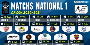ALEG : Le calendrier de National 1 2020/2021   ergue gaberic