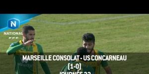 J22 : Marseille Consolat - US Concarneau (1-0), le résumé