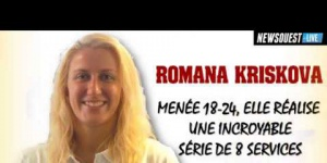 Les services gagnants de Romana KRISKOVA du Quimper Volley