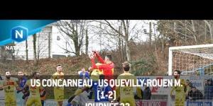 J23 : US Concarneau - US Quevilly-Rouen (1-2), le résumé