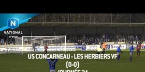 J21 : US Concarneau - Les Herbiers VF (0-0), le résumé