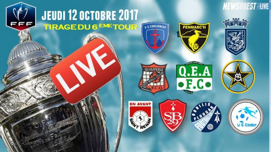 Live le tirage du 6 me tour de la coupe de france r gion bretagne autres football - Tirage coupe de bretagne football ...